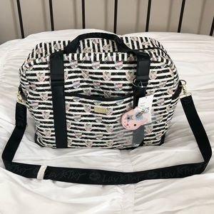 Betsey Johnson Quilted Cat Unicorn Weekender